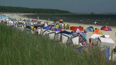 Beautiful Karlshagen Beach on Usedom Island - Baltic Sea, Northern Germany. Stock Footage
