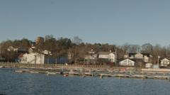 Lake Malär in Sweden Stock Footage