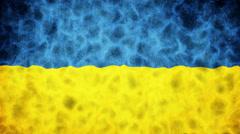 Ukraine Flag Loop Stock Footage
