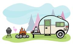 Camper illustration Stock Illustration