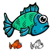 Fish illustration Stock Illustration