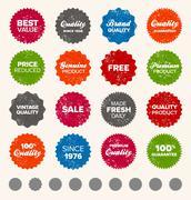 Simple vintage badges - stock illustration