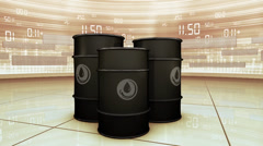 Oil barrels animation Stock Footage