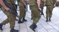 platoon of Israeli soldiers - stock footage