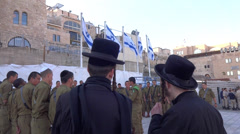equality burden Israeli soldiers - stock footage