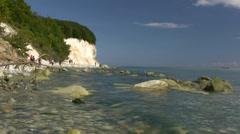 White Chalk Cliffs on Rügen Island - Baltic Sea, Northern Germany Stock Footage