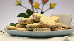 Alfajores Argentinean Style Stock Footage