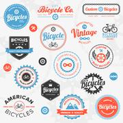 Various bicycle labels and emblems Stock Illustration