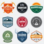Mountain badges - stock illustration
