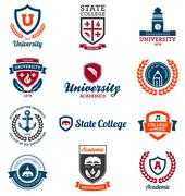 University and college emblems - stock illustration