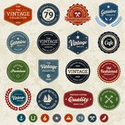 Vintage labels Stock Illustration