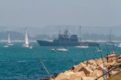 patrol boat p-73 vigia - stock photo