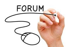 Forum mouse concept Stock Illustration