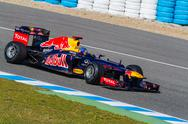 Stock Photo of team red bull f1, sebastian vettel, 2012