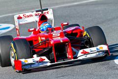 scuderia ferrari f1, fernando alonso, 2012 - stock photo