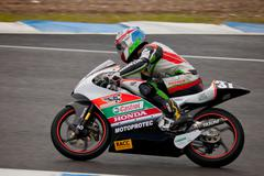 Johnny rosell pilot of 125cc in the cev Stock Photos