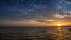 4K Ultra HD (4096 x 2304 px): Clouds on the Great sky over lake time lapse Stock Footage