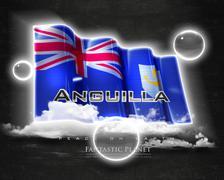 Flag Anguilla quality designer flag - stock illustration