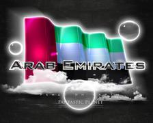 Flag Arab Emirates quality designer flag Stock Illustration