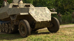 German Half Track close up Stock Footage
