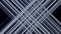 Animated Matrix of Steel Chrome Rods Stock Footage