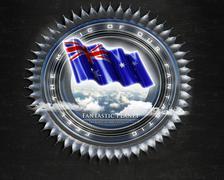 Flag Australia quality designer flag - stock illustration