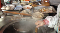 Cooking for noodle - stock footage