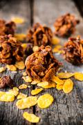 corn flake cookies - stock photo