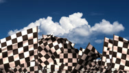Stock Video Footage of Waving Chequered Flags