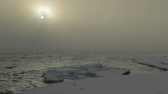 Misty Bow River in Winter Stock Footage