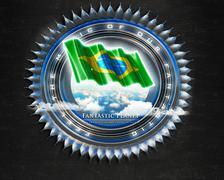 Flag Brazil quality designer flag - stock illustration