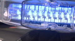 Flashing Police Sirens - stock footage