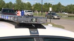 Flashing Police Sirens Stock Footage