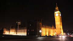 London: Big Ben and the houses of parliament Stock Footage