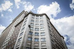 image of the city of madrid, its characteristic architecture - stock photo