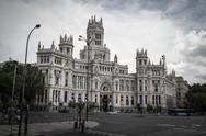 Stock Photo of city council, image of the city of madrid, its characteristic architecture