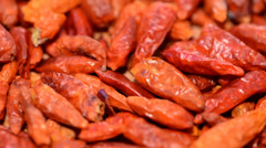 dried chillis background video (loopable) - stock footage