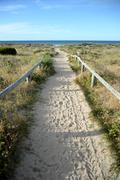 Stock Photo of beach track