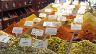 Stock Video Footage of spice store