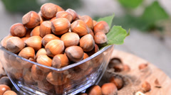 hazelnuts video (loopable) - stock footage