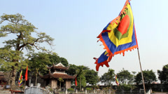 Flag festival in Asia Stock Footage