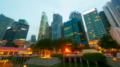 Stock Video Footage of 4k (4096x2304) timelapse in motion, Singapore at night