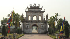 Temple in Asia Stock Footage