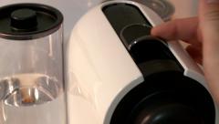 Nespresso Inserting Capsule Stock Footage