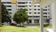 Stock Video Footage of SINGAPORE PUBLIC HOUSING, HDB. (SINGAPORE LOW COST HOUSING HDB--3a)