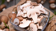 Stock Video Footage of fresh mushrooms (loopable video)
