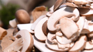 Stock Video Footage of portion of mushrooms (loopable video)