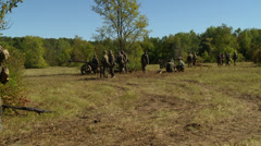 German soldiers waiting for a battle  Stock Footage