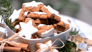 Stock Video Footage of cinnamon cookies (loopable video)