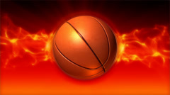 Basketball On Fire Loop - stock footage